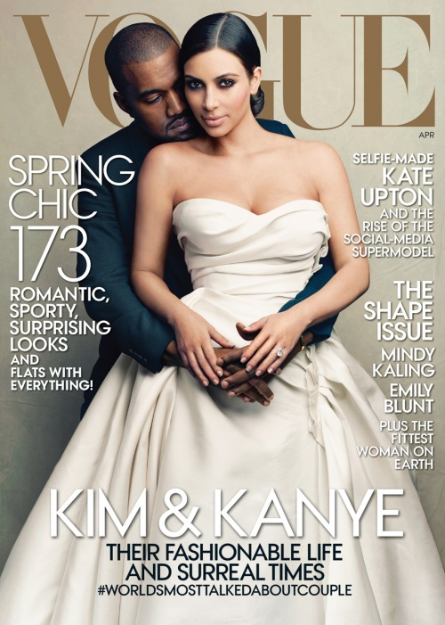 Kim Kanye April 2014 Vogue cover medium