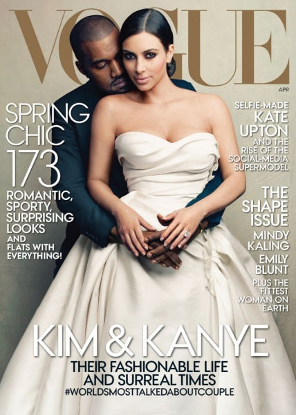 Kim Kanye April 2014 Vogue cover