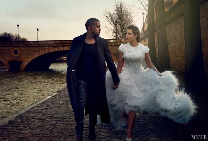 Kim Kanye Vogue April 2014 2