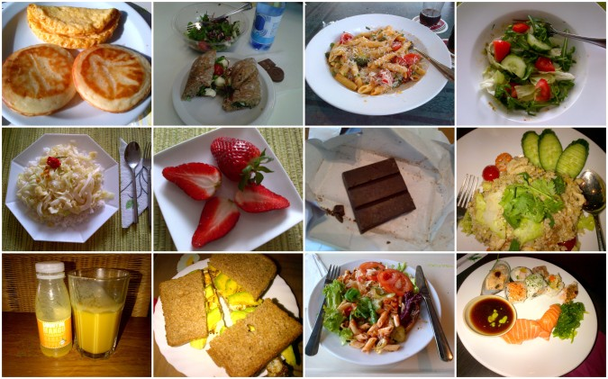 Healthy diet collage