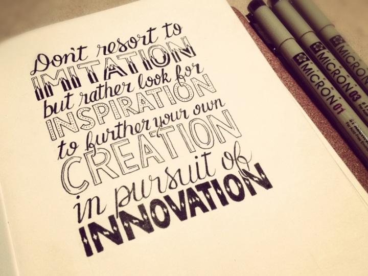 Imitation Inspiration Innovation