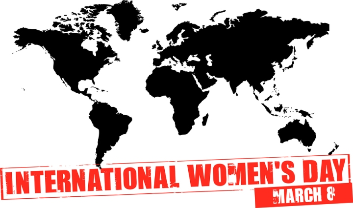 International Womens Day map
