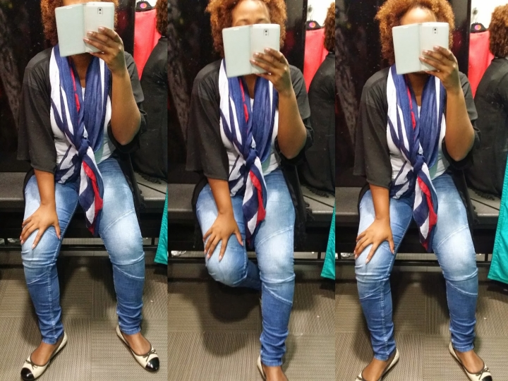 Blue scarf 4