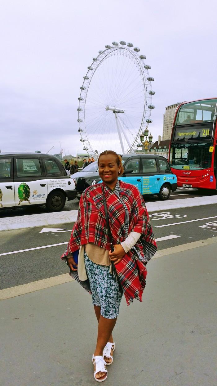 London Eye pose